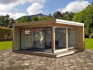Gartenhaus Mit Glasfront : premium luxushaus 500 x 500 cm konstruktion aus leimholz 12 x 12 cm mit d mmung iso glas ~ Markanthonyermac.com Haus und Dekorationen