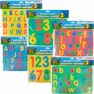 Learning letter number foam puzzles letters numbers for Bulk letters