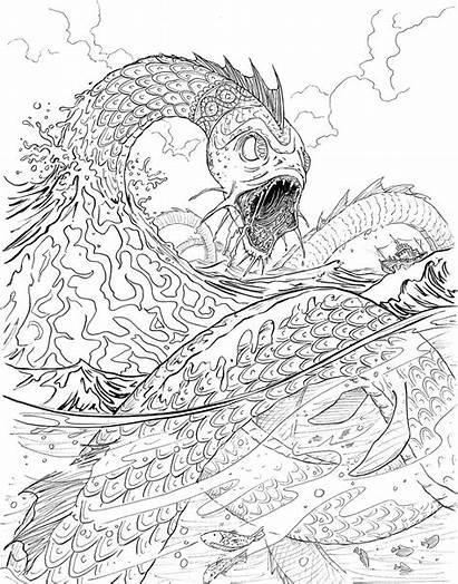 Coloring Jormungand Chase Magnus Riordan Asgard Gods
