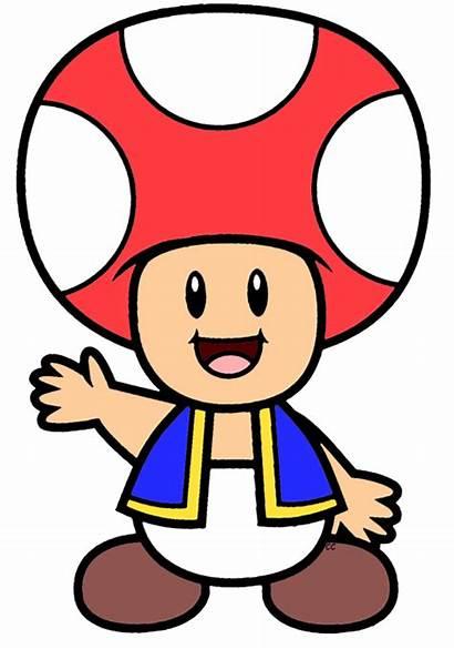 Mario Cartoon Bros Toad Clip Clipart Nintendo