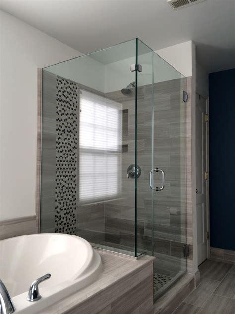 corner shower doors frameless corner shower enclosures