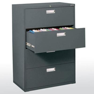 sandusky file cabinet sandusky 600 series 36 in w 4 drawer lateral file cabinet