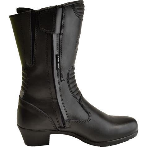 ladies biker boots oxford savannah ladies leather motorcycle boots waterproof