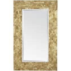 pier one gold capiz floor mirror pier 1 imports polyvore