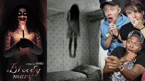 reacting    scary short films  youtube part