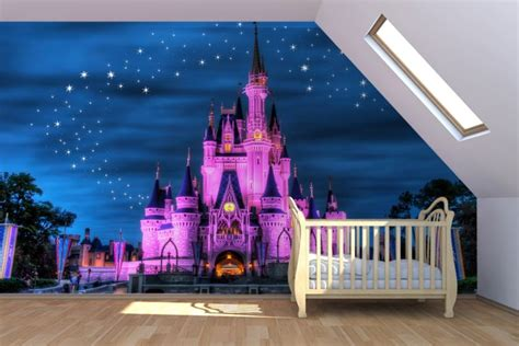 Disney Wallpaper For Bedrooms by Fairytale Castle Mural Wallpaper Disney Wallpaper