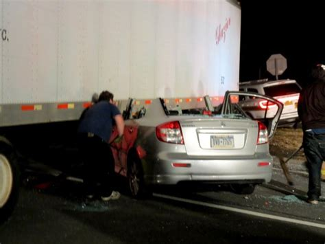 Car-truck Accident On Route 9w At Creeble