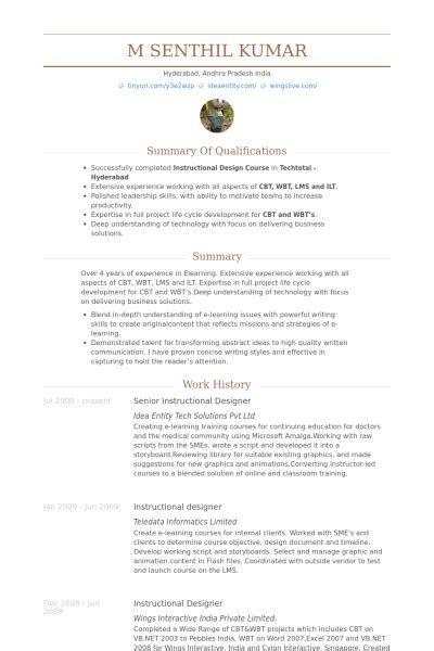 Senior Instructional Designer Resume Samples  Visualcv. Datastage Resumes On Experience. Sports Resume Template. Resume Template For Students. Cosmetic Resume. Customer Representative Resume. Call Center Manager Resume. What Goes On A Cover Letter Of A Resume. Event Planning Resume