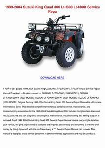 1999 2004 Suzuki King Quad 300 Lt F300 Lt F30 By