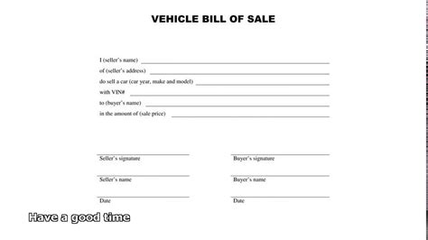 bill  sale car youtube