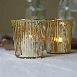 Ribbed, Glass, Tea, Light, Holder, Silver, Gold, Bronze, By, The, Wedding, Of, My, Dreams