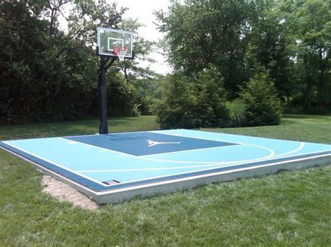 garden basketball court outdoor half court basketball