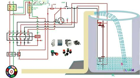 automatic water level controler single phase motor starter connection