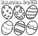 Easter Eggs Coloring Pages Egg Colorings sketch template