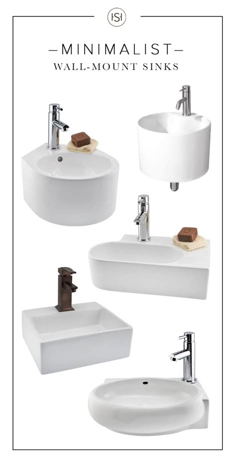 Inexpensive Modern Bathroom Sinks by With Their Clean Lines And Modern Shapes These Wall Mount