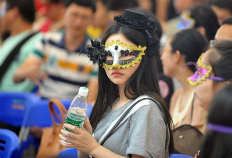 masked girl participates   joint dating party
