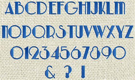 Glitzby Monogram Font Embroidery Design File