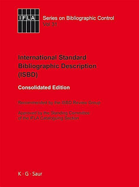 Isbd International Standard Bibliographic Description
