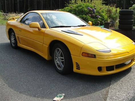 mitsubishi 3000gt yellow buy used 1991 mitsubishi 3000gt sl coupe 2 door 3 0l in