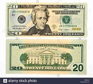 20 U.S. dollar banknote, front and back Stock Photo ...