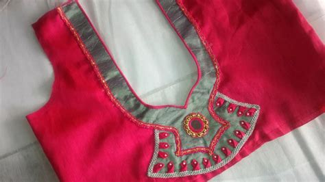 Boat Neck Ki Cutting by Simple And Beautiful Blouse Neck Designs Cutting And
