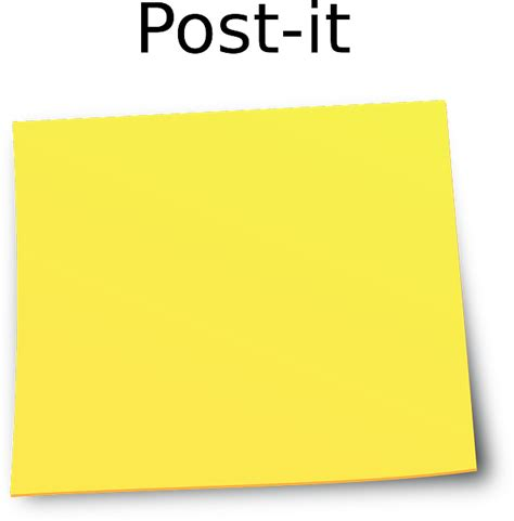bureau post it yellow post it notes imgkid com the image kid has it