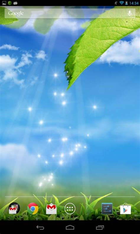 galaxy  green leaf wallpaper android app  apk