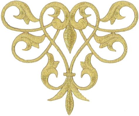 Gold Applique by Fleur De Lis Abstract Design Gold Metallic Applique