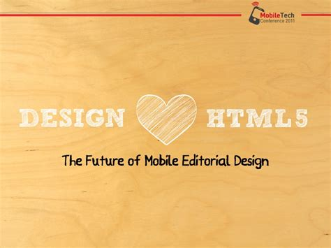 design html5 the future of mobile editorial design