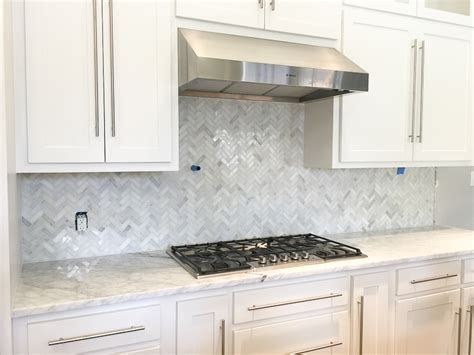 marble herringbone backsplash a kitchen backsplash transformation a design decision gone wrong zdesign at home
