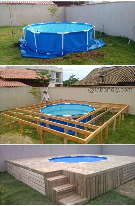 pool mit holz verkleiden anleitung poolumrandung holz selber bauen mit 16 besten pool bilder