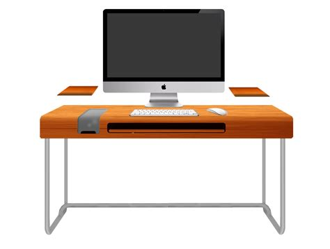 bureau transparent ikea modern orange computer desk design with black keyboard and