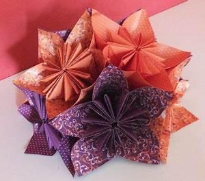 Blumen Aus Papier : blume gefaltet aus papier origami blume basteln ~ Udekor.club Haus und Dekorationen