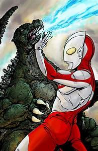 Ultraman vs Godzilla, that is a Big Wow! – Gazbot Illustration