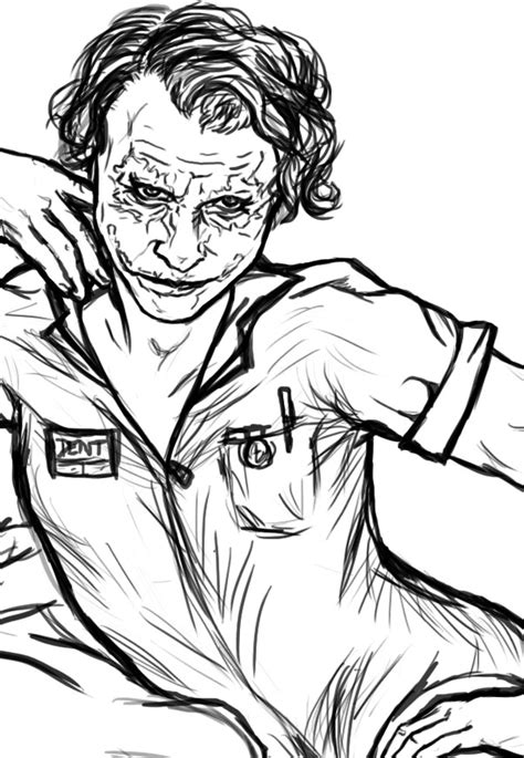 joker coloring page  alyssathestar  deviantart
