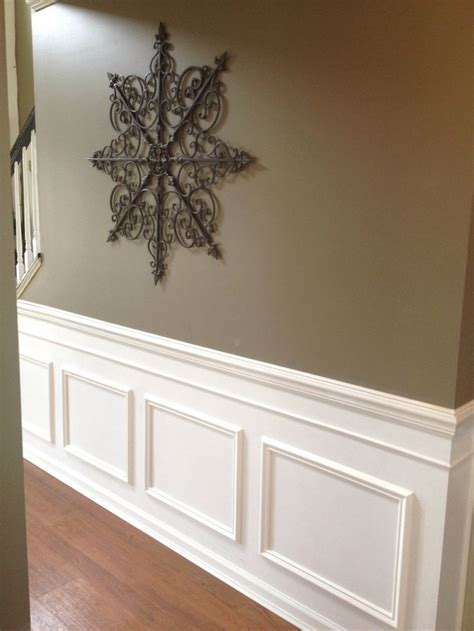 diy faux wainscoting added   builders grade home