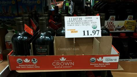 crown maple syrup ny bourbon barrel aged costcocom