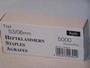 Klammern Typ 53 : tackerklammern typ 53 530 6mm 5000 st ck von reptile rapid kaufen bei svm verpackung u montage ~ Frokenaadalensverden.com Haus und Dekorationen
