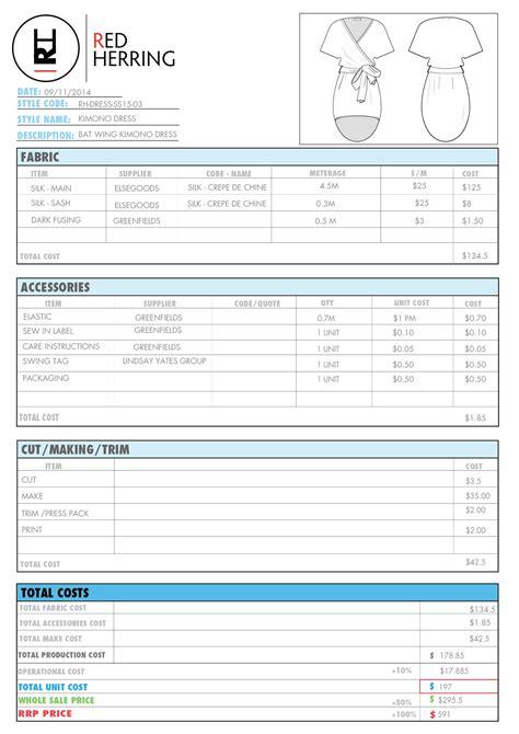 Specs Sheet on Behance