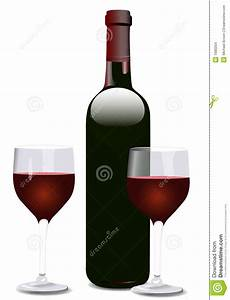 Wine Bottle And Two Glasses Stock Images - Image: 1680204