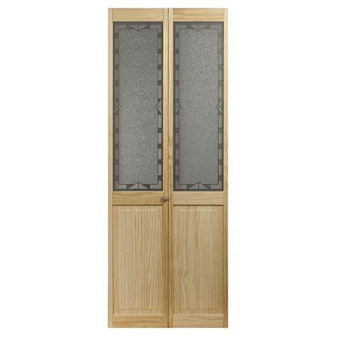 pinecroft 1 lite solid pine bifold closet door