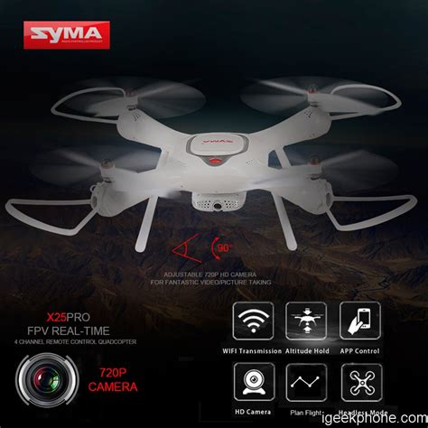 syma  pro rc drone  adjustable p hd camera design features review coupon