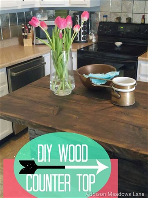 diy wood countertop dresser   kitchen island