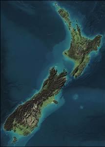 New Zealand Terrain Map   Newzealand