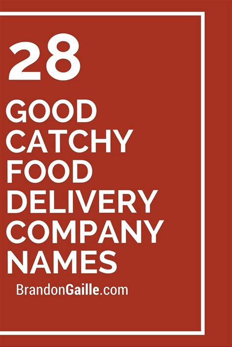 slogan cuisine 28 catchy food delivery company names food names