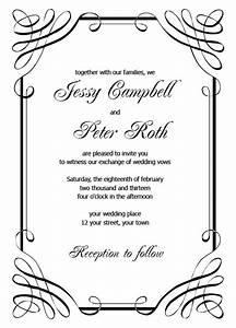free printable wedding invitation templates only by invite With wedding favors templates free printable