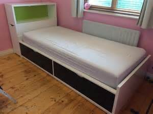 single bed with storage flaxa ikea for sale in