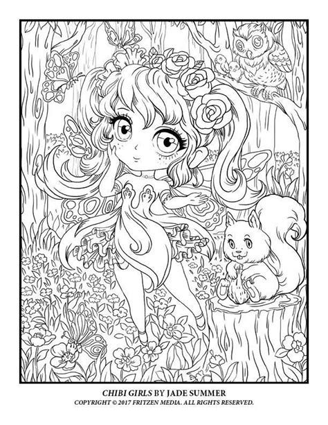 Pin by Gayle Larson on Pages to Color   Chibi coloring