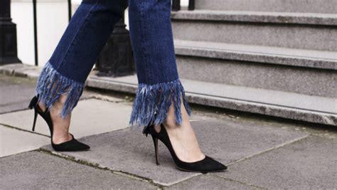 diy  easy guide   frayed hem jeans