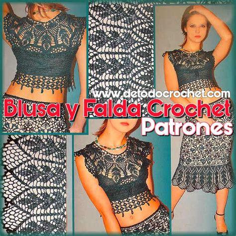 bell 237 sima pollera y blusa crochet patrones de revista rusa todo crochet